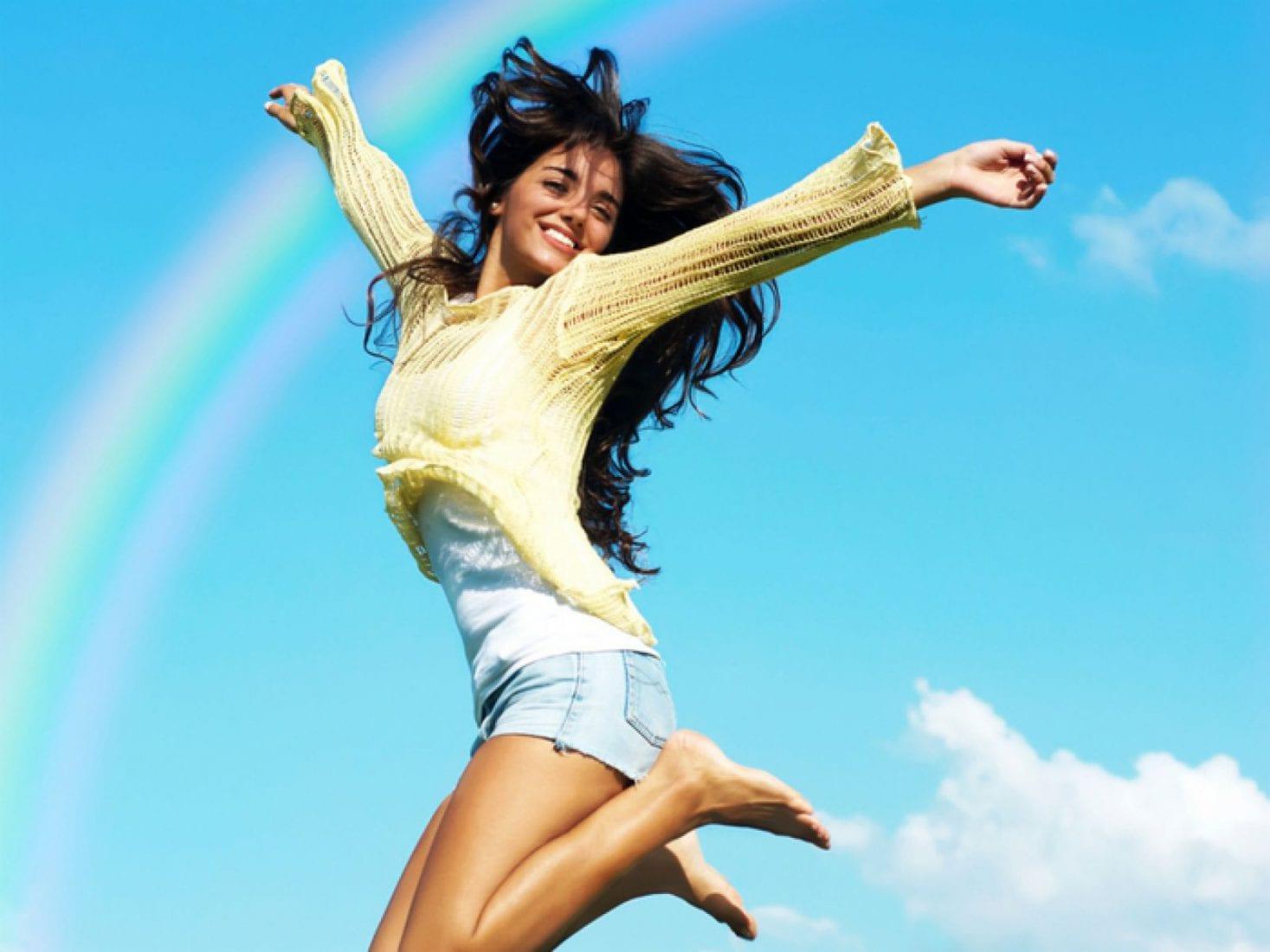 Открытки больше позитива для красивой женщины