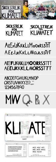 Создан шрифт, имитирующий почерк Греты Тунберг. Фото