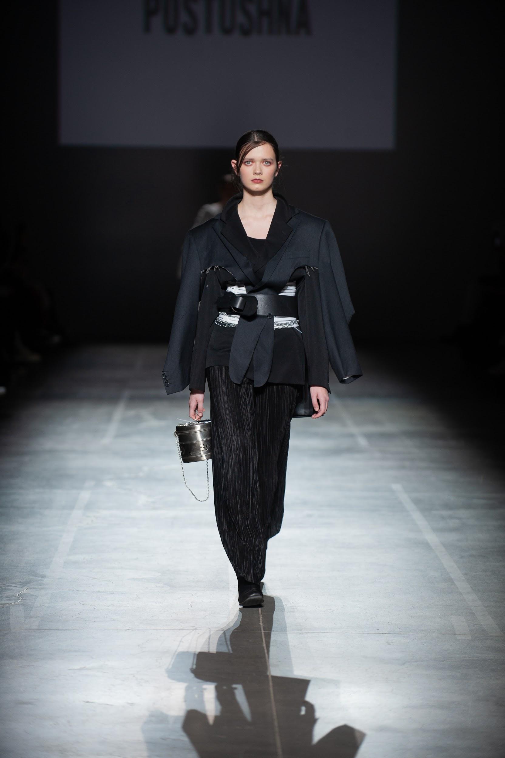 многослойный пиджак и брюки Postushna