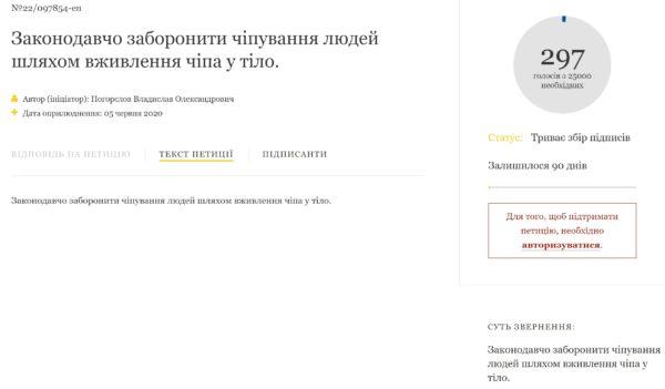 Петиция чипирование