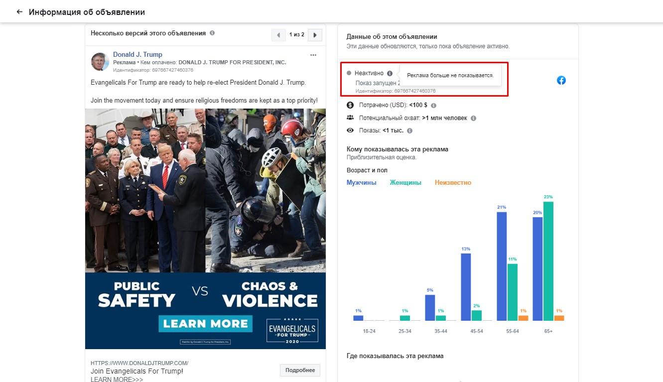 Передвиборна реклама Трампа з фото активістів Євромайдану знята з ...