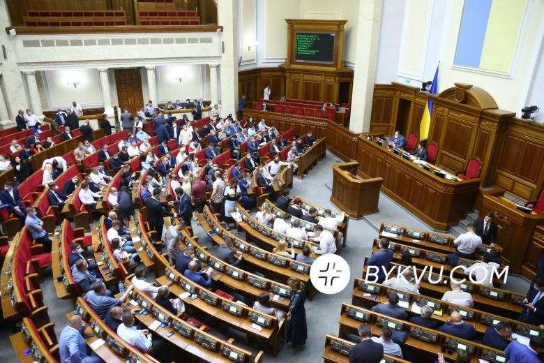 Позачергове засідання Верховної Ради 25 серпня 2020
