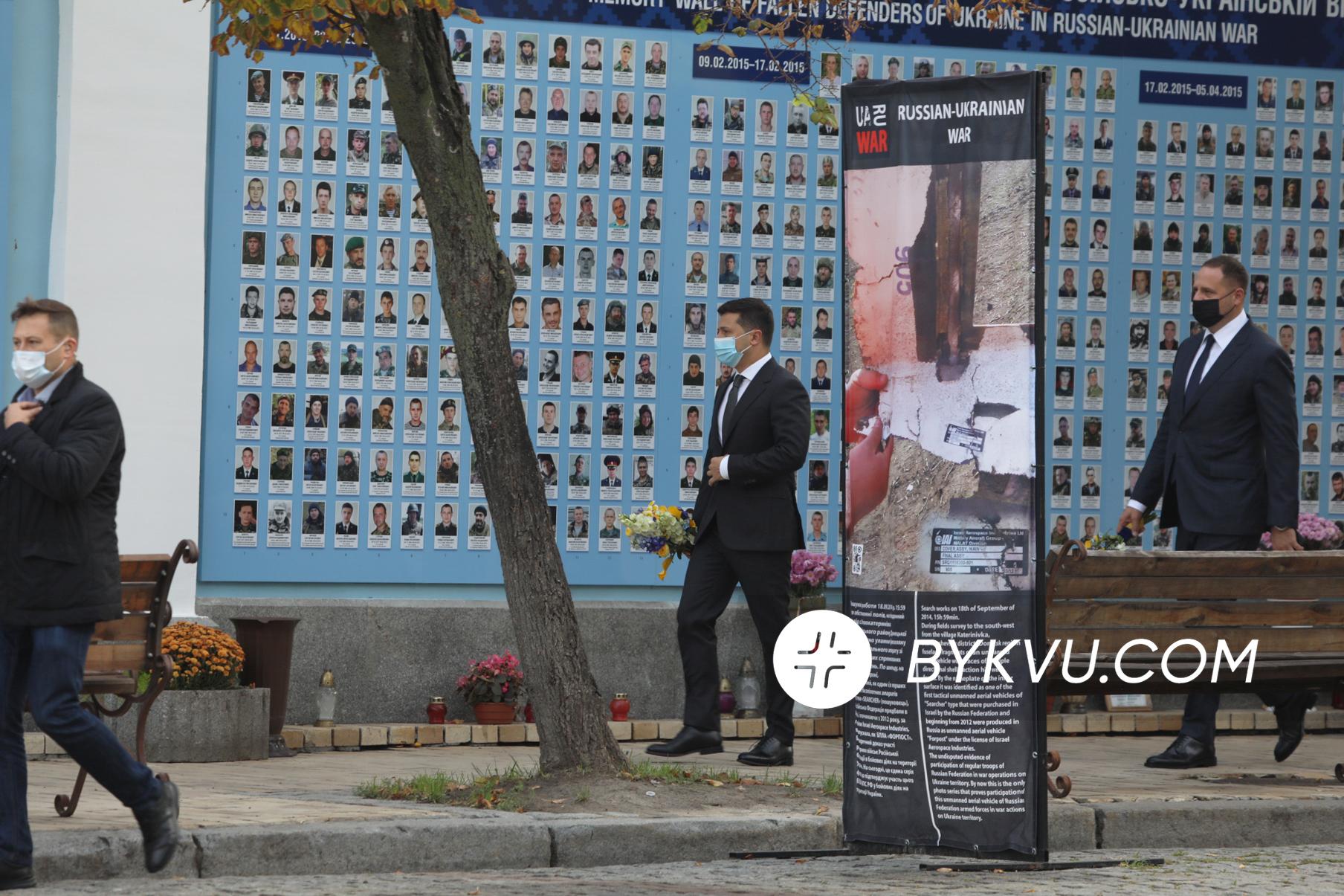 Володимир Зеленський вшанував пам'ять воїнів 14 жовтня