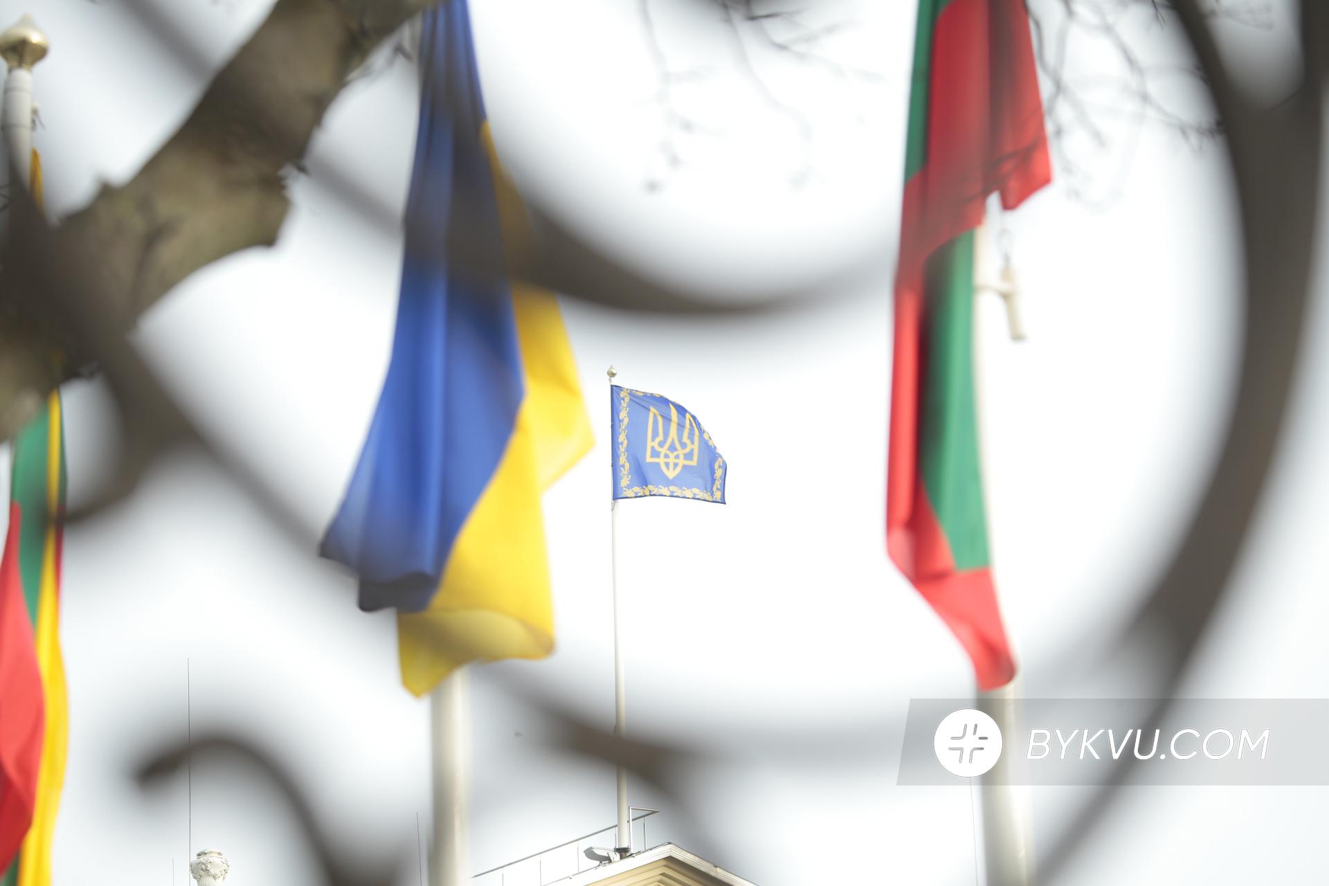 Прапор Литви та України