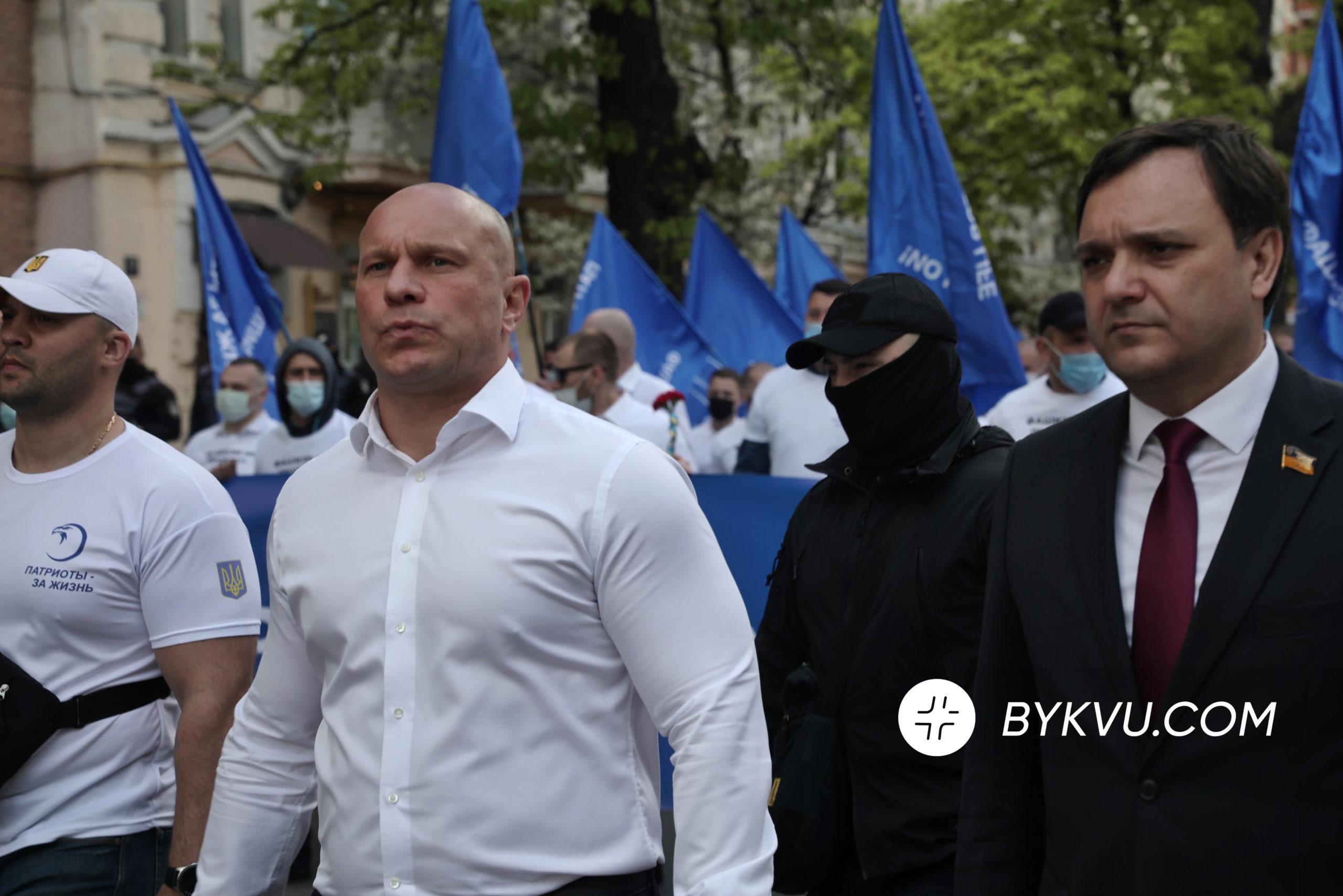 Ілля Кива_колона ОПЗЖ_день перемоги