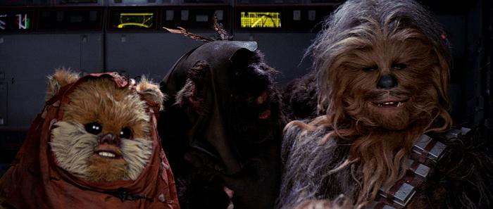 star wars episode vi ewoks chewbacca