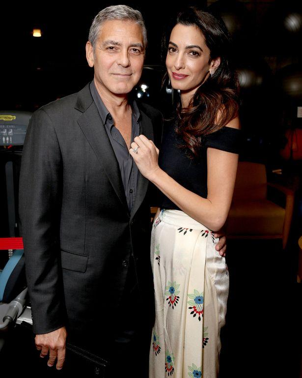 George Clooney L and lawyer Amal Clooney