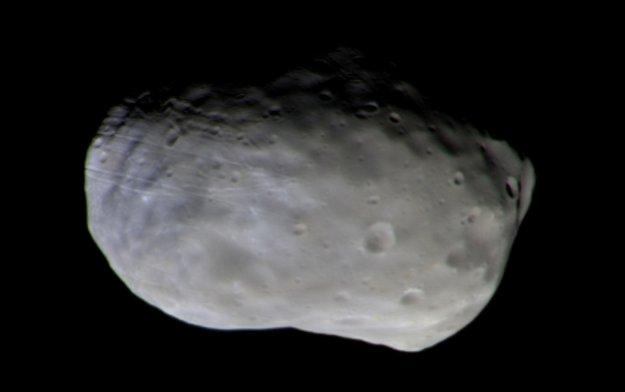 ExoMars first colour image of Phobos large