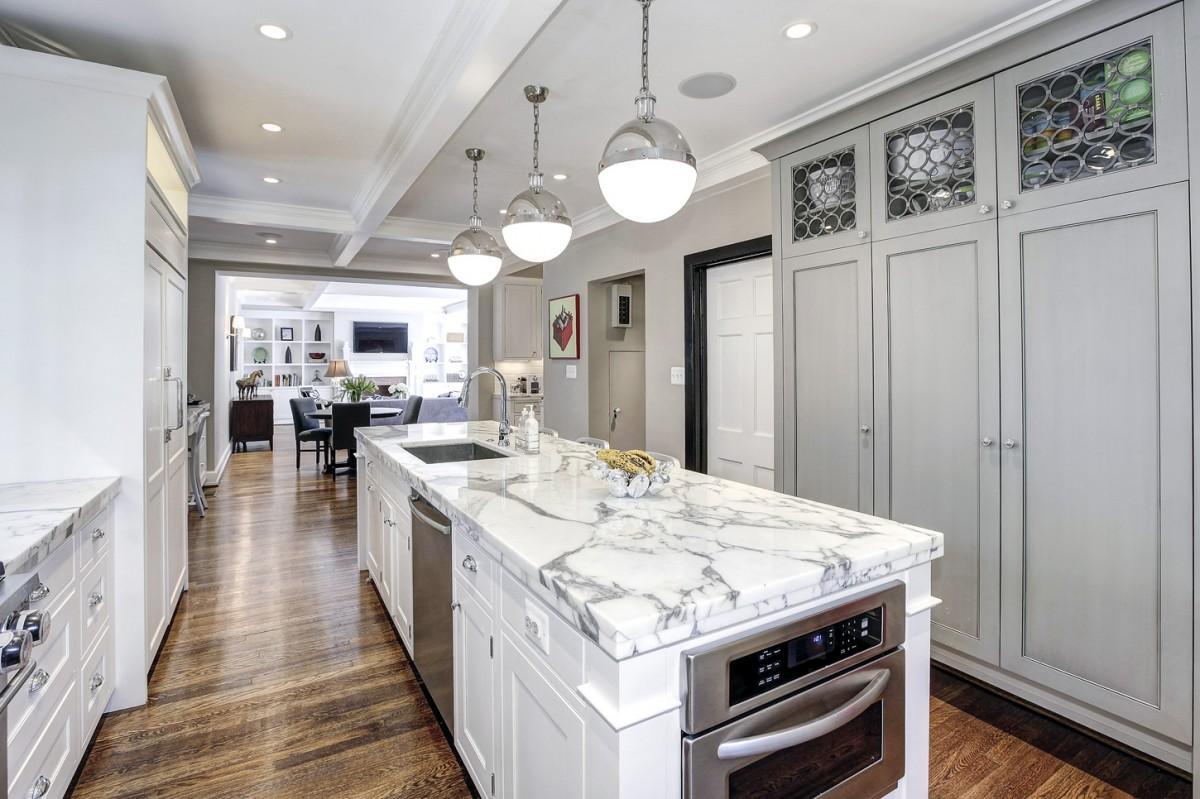 2446 Belmont Road NW Washington DC Obamas New Home Kitchen Island 1200x799