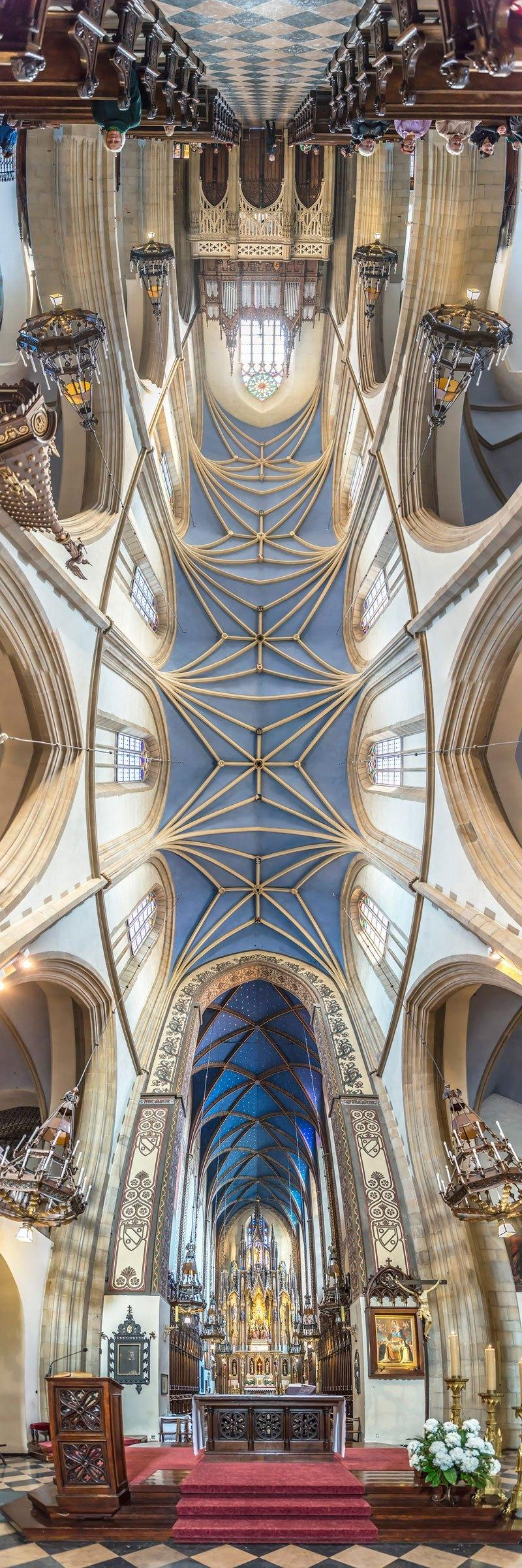 vertical panoramas of church ceilings around the world 2