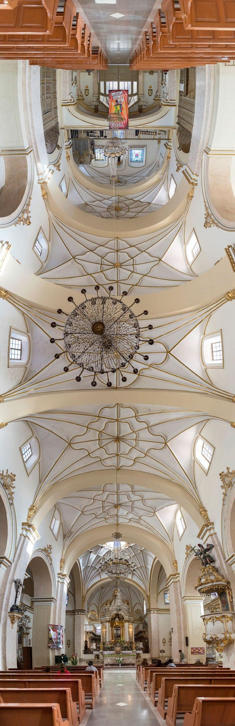 vertical panoramas of church ceilings around the world 3