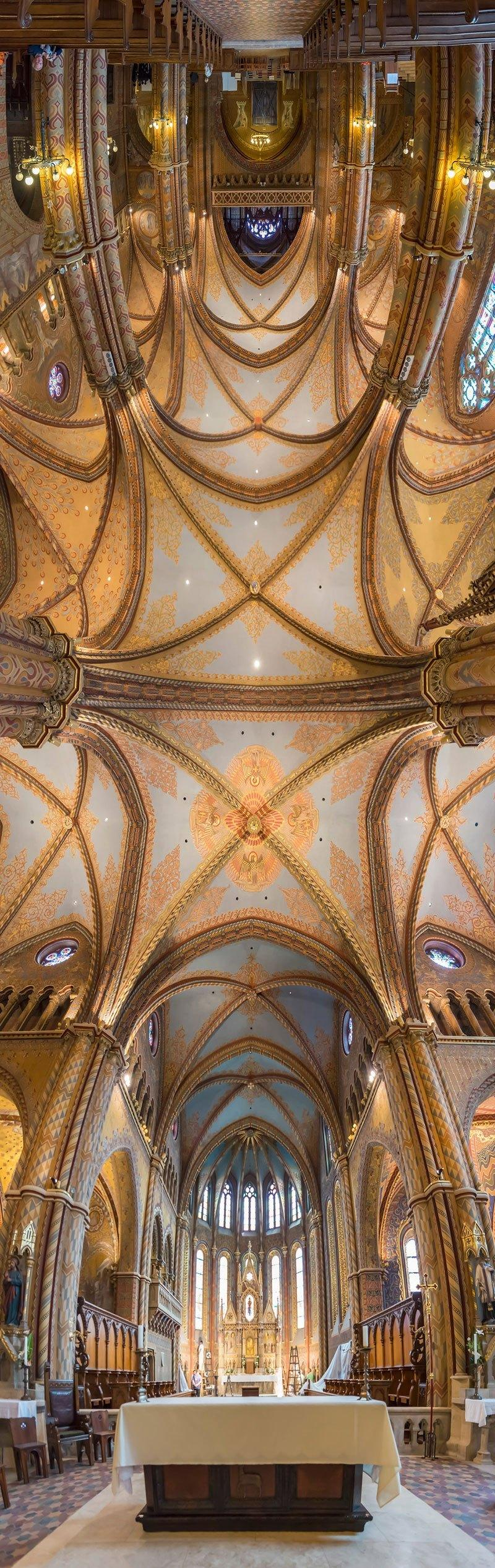vertical panoramas of church ceilings around the world 4