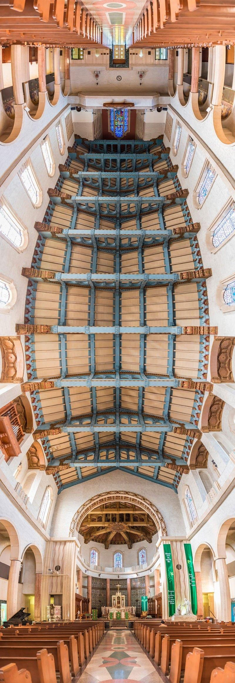 vertical panoramas of church ceilings around the world 5