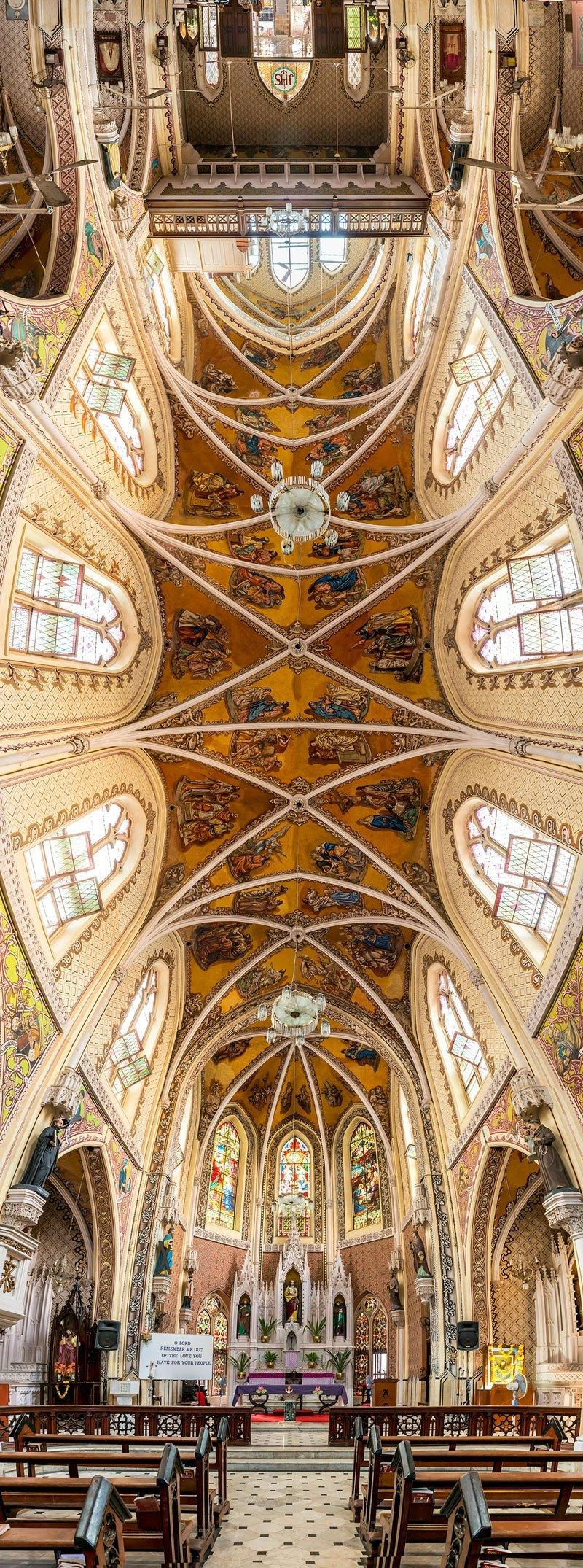 vertical panoramas of church ceilings around the world 6