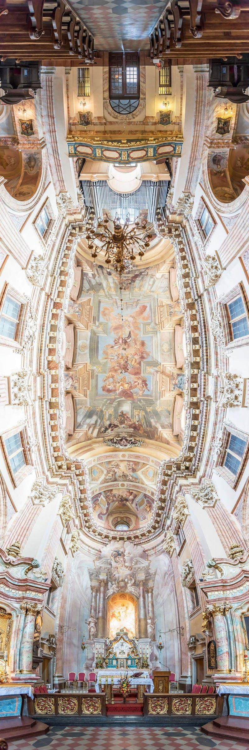 vertical panoramas of church ceilings around the world 7