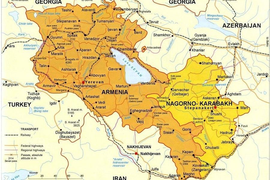 Карта Нагорный Карабах Map