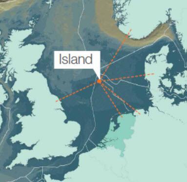 dogger island map north sea
