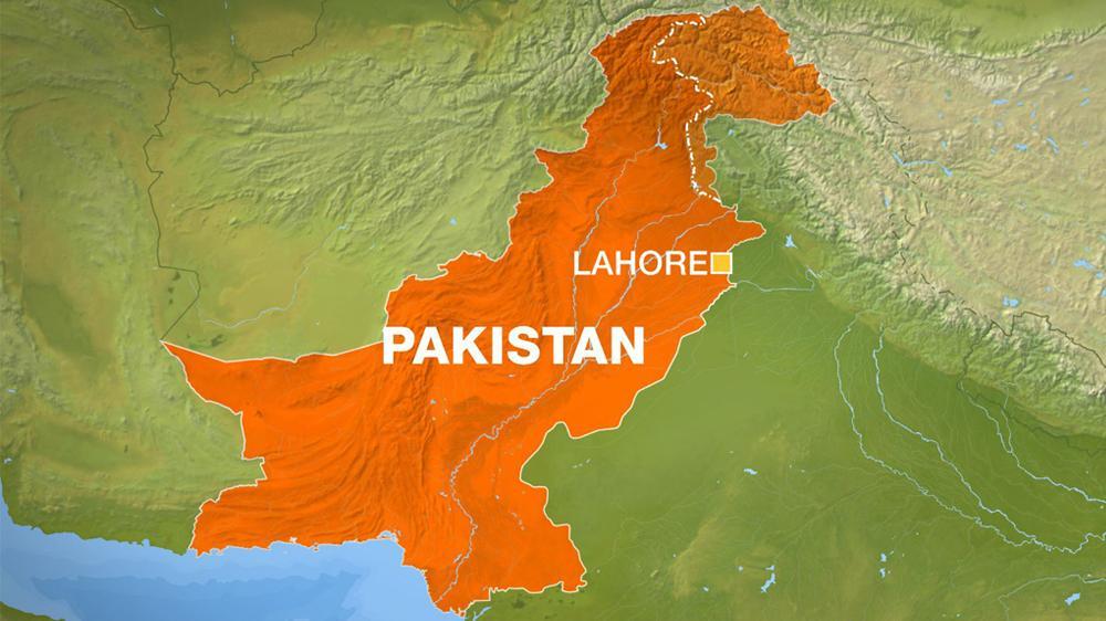 Лахор на карте Пакистана