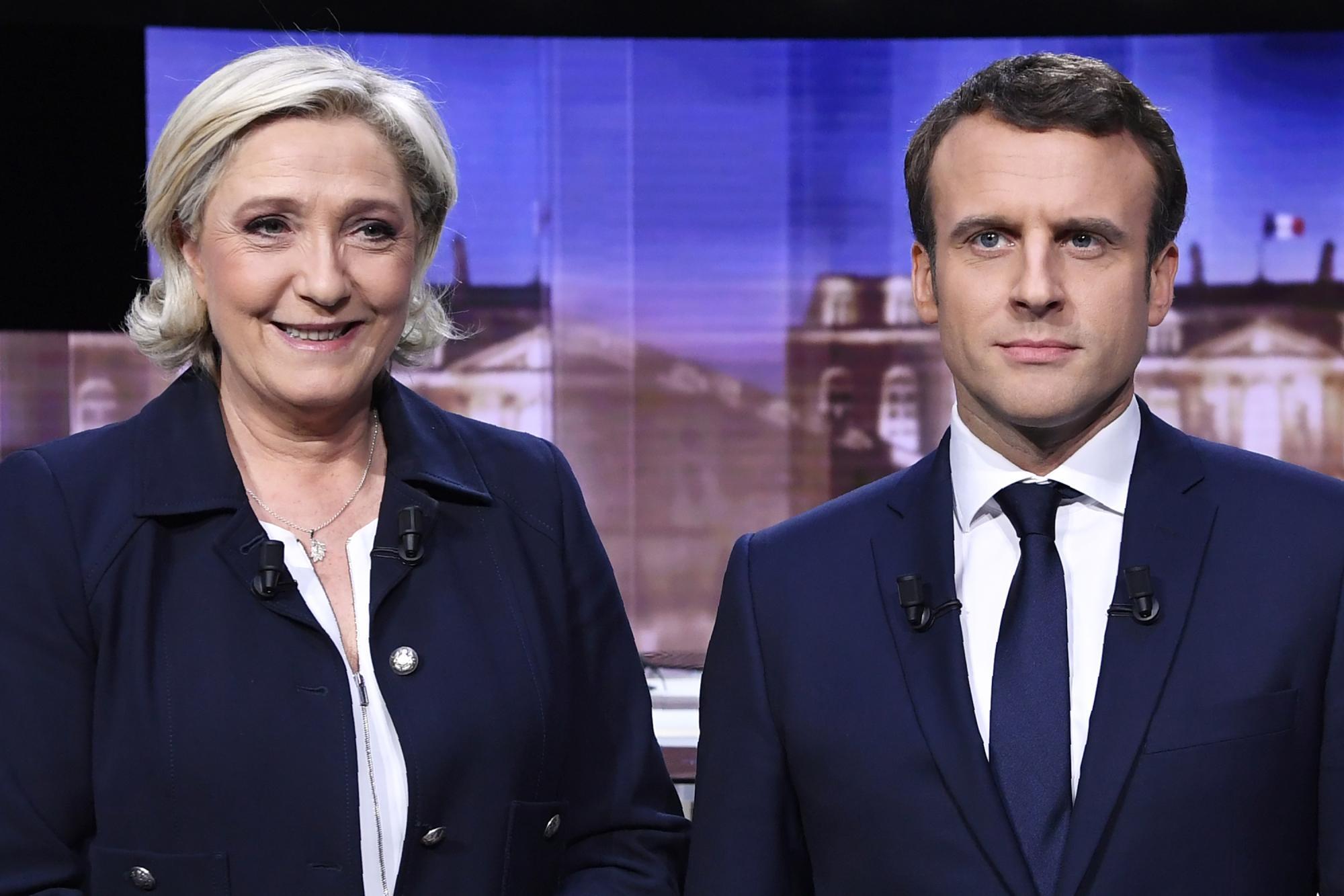 дебаты Ле Пен и Макрон
