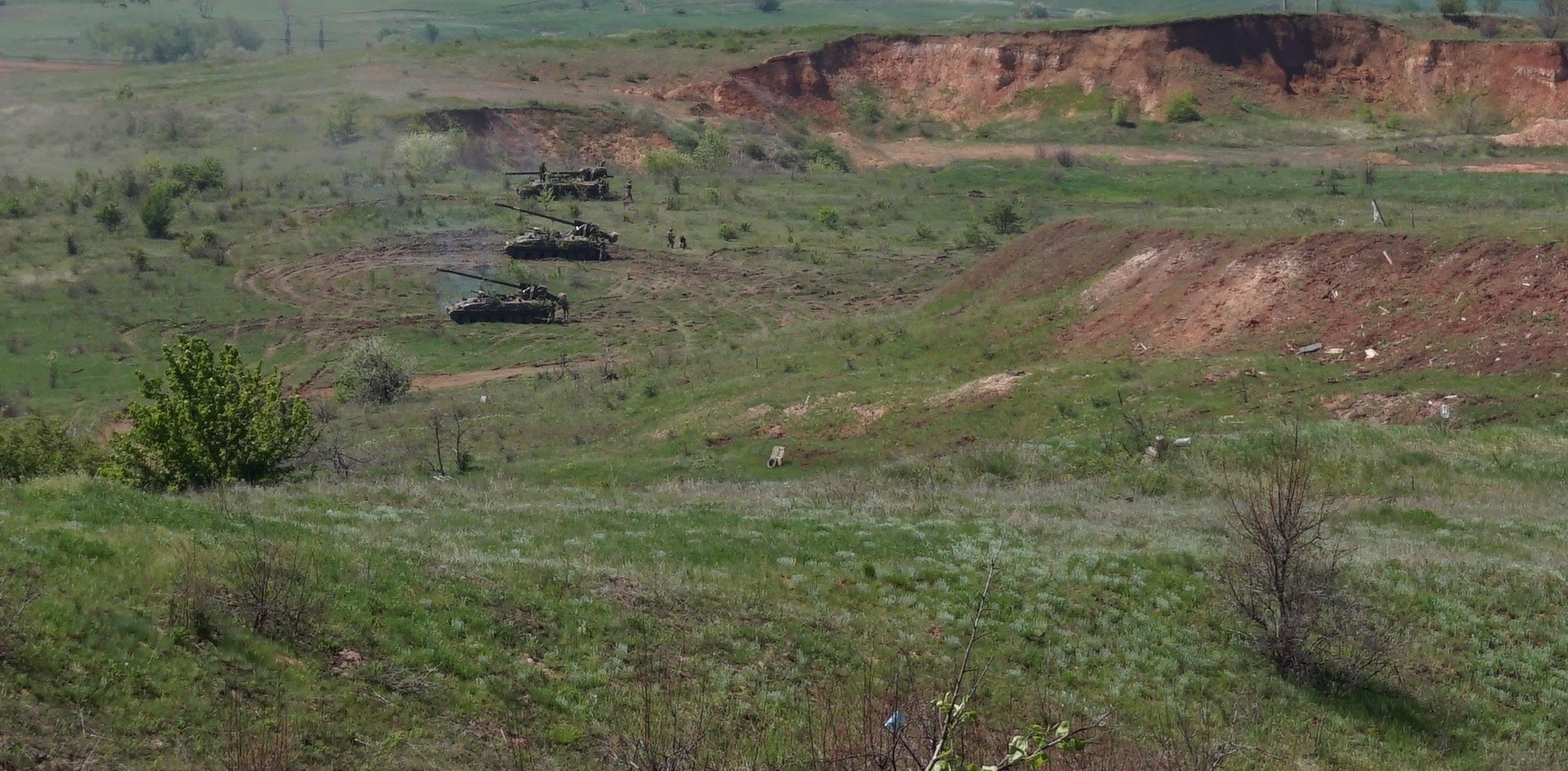 Донбасс. Учения артиллерии_1