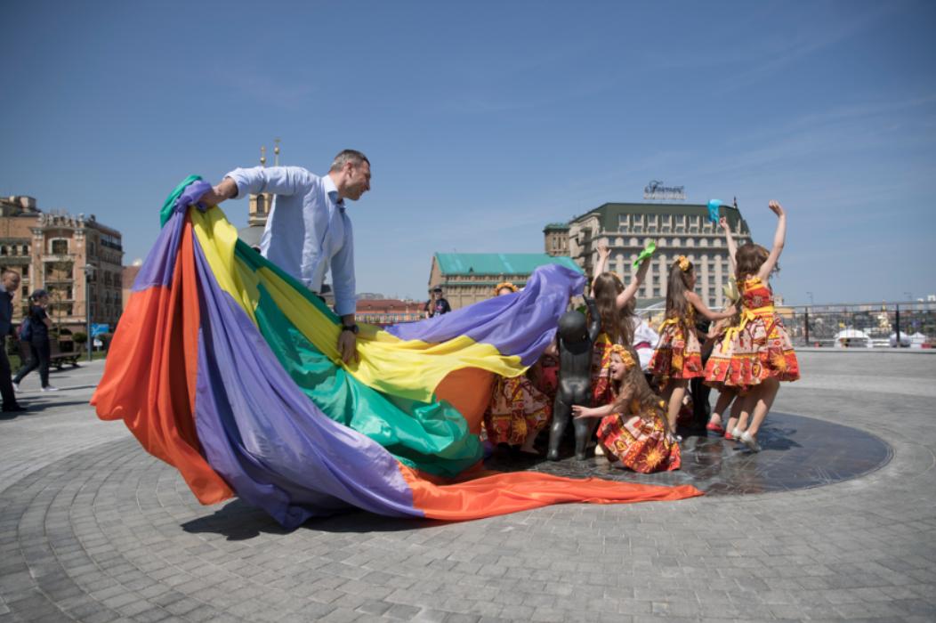 Киев, Почтовая площадь после реконструкции