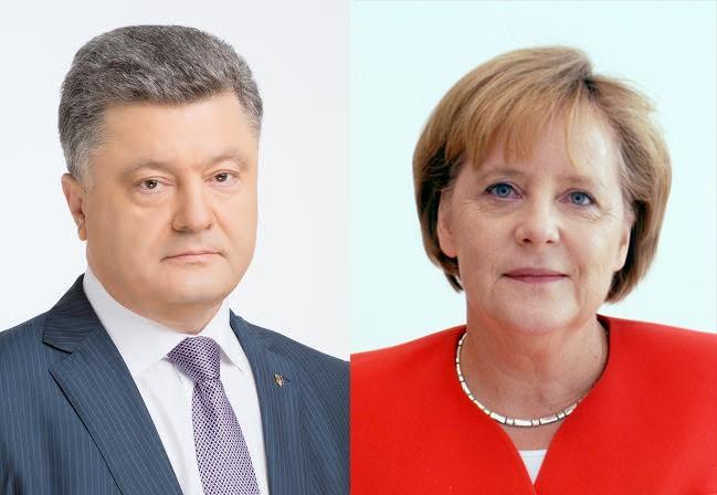 Порошенко Меркель