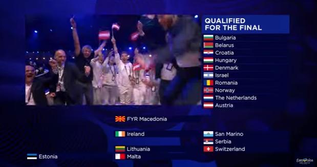 Евровидение, второй полуфинал
