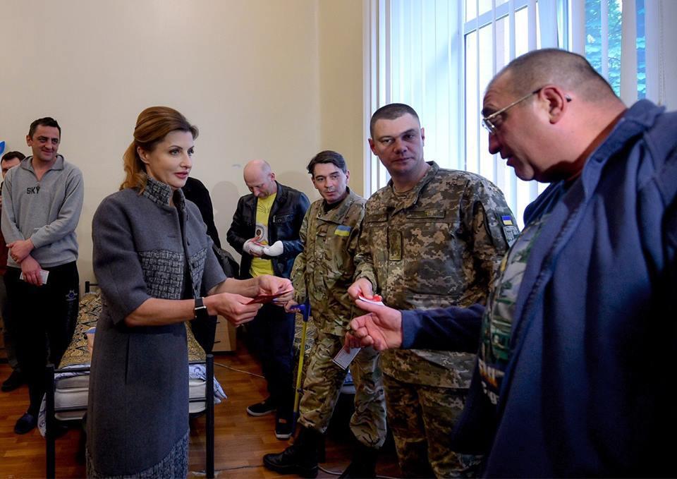 Марина Порошенко, военнослужащие_3