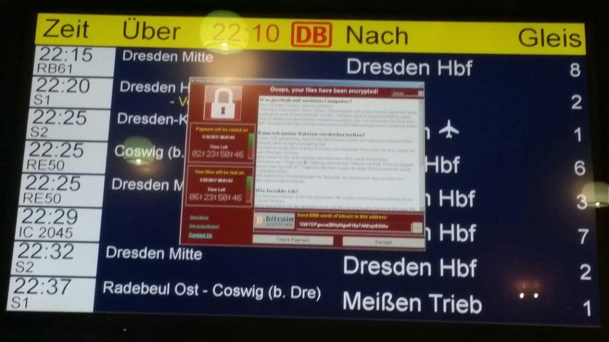 Электронные табло отправления поездов в Германии