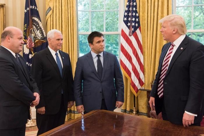 Климкин встретился с Трампом и Пенсом в Белом доме