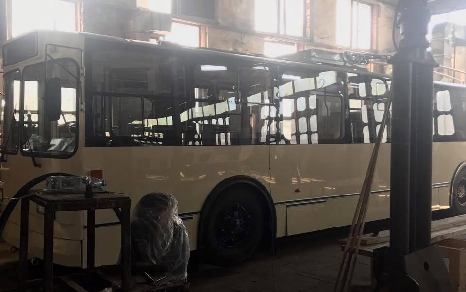 Сборка троллейбуса в Житомире