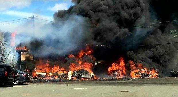 Крушение самолета в штате Нью-Джерси