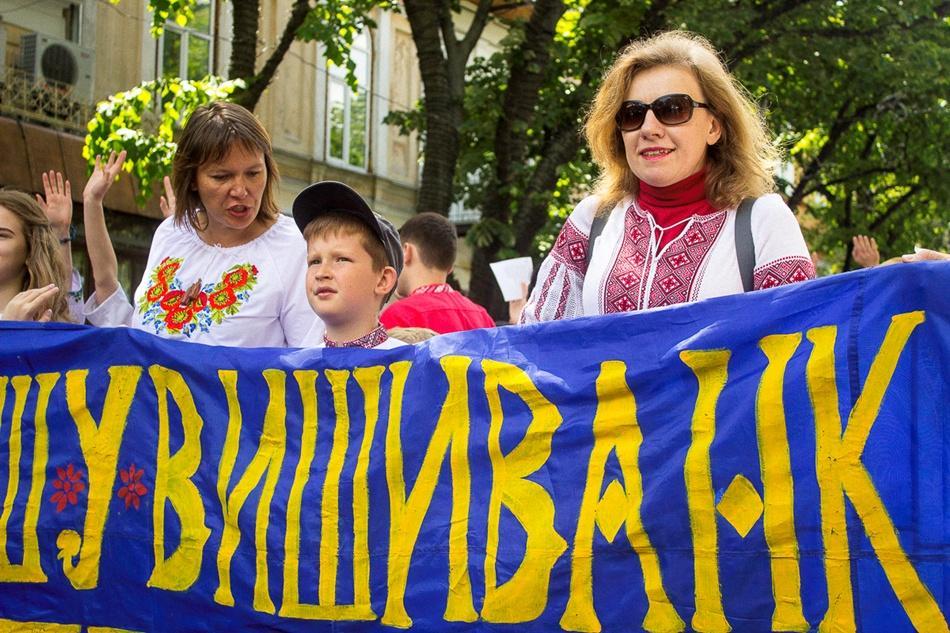 В Одессе прошел 10-й Мегамарш в вышиванках_10