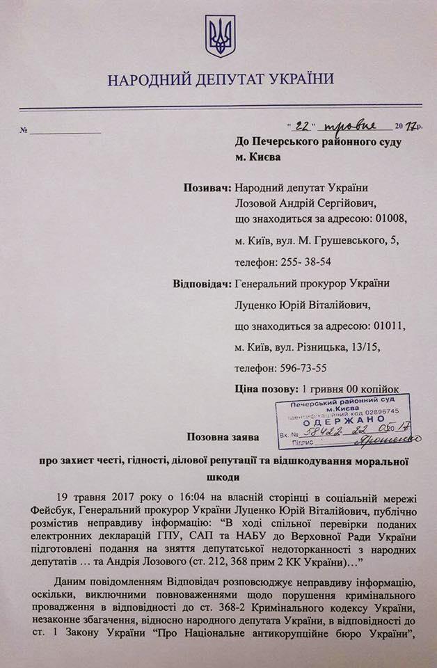 Лозовой суд