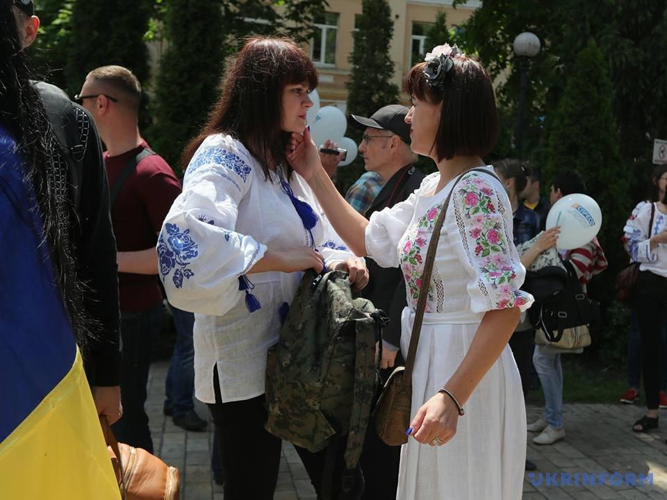 В Киеве начался Мегамарш в вышиванках_6
