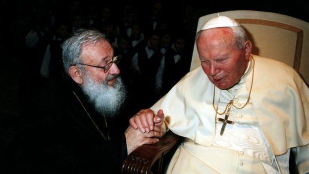 Любомир Гузар и Иван Павел II