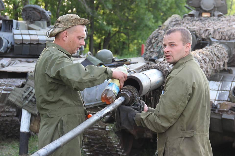 Танковые соревнования в Донецкой области
