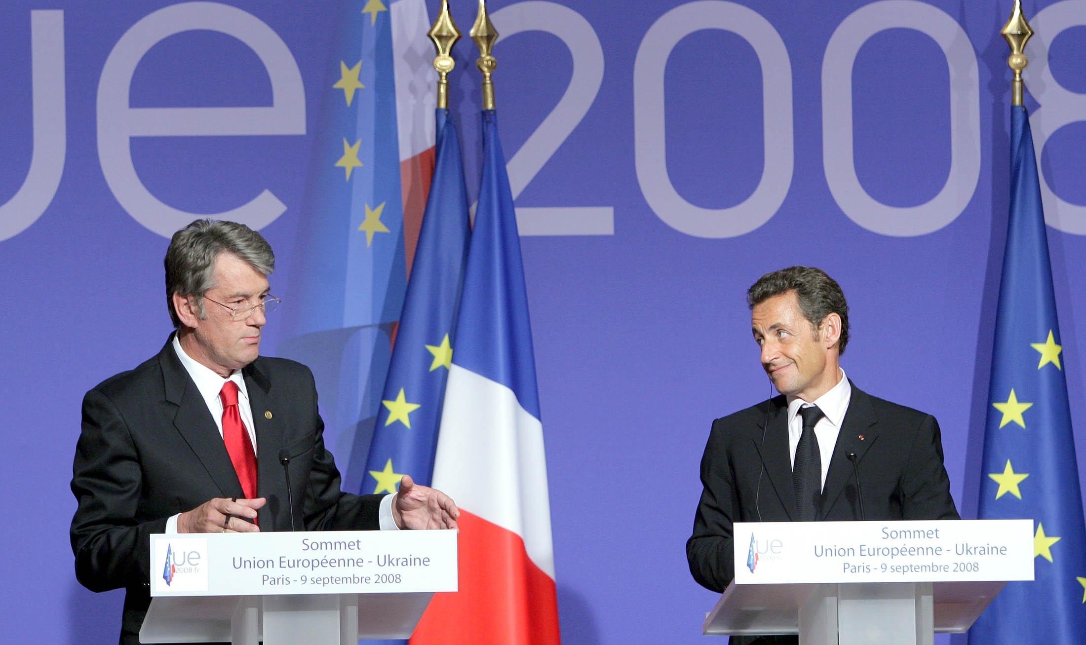 Ющенко и Саркози
