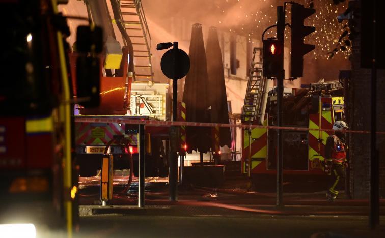 Пожар на рынке Camden Market в Лондоне