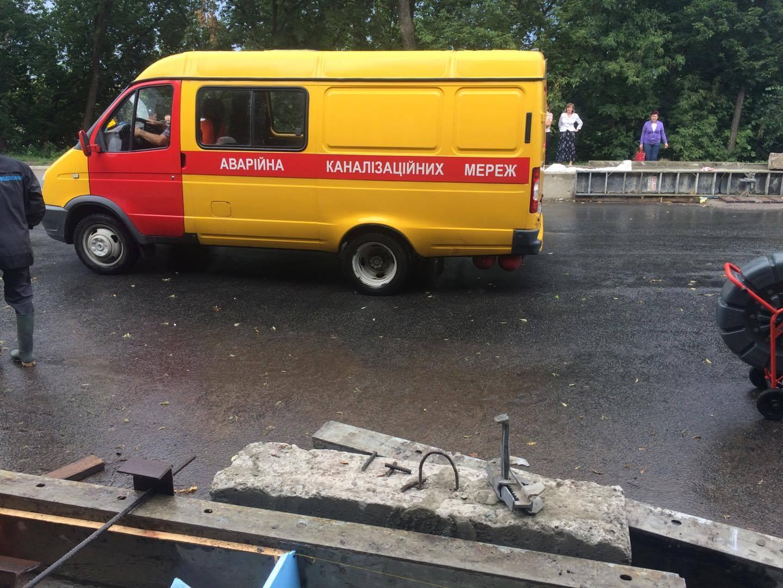 В Чернигове из-за сильных дождей