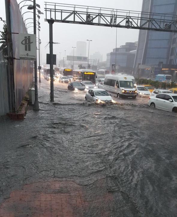 Сильный ливень в столице Турции