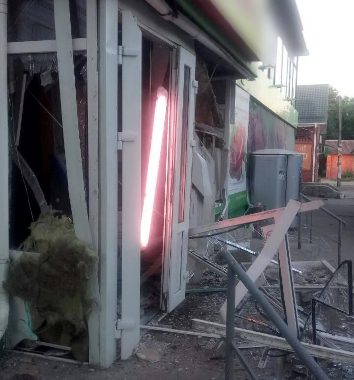 В Харьковской области ночью взорвали банкомат