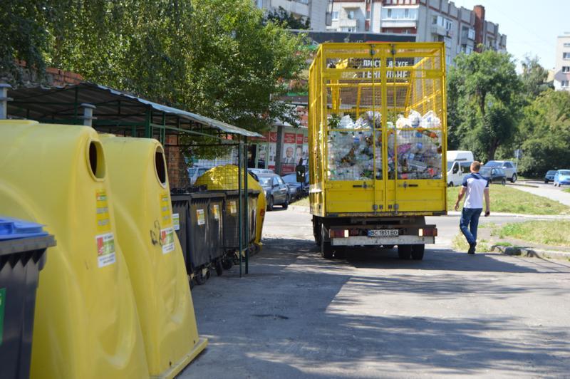 Контейнеры для сортировки мусора во Львове