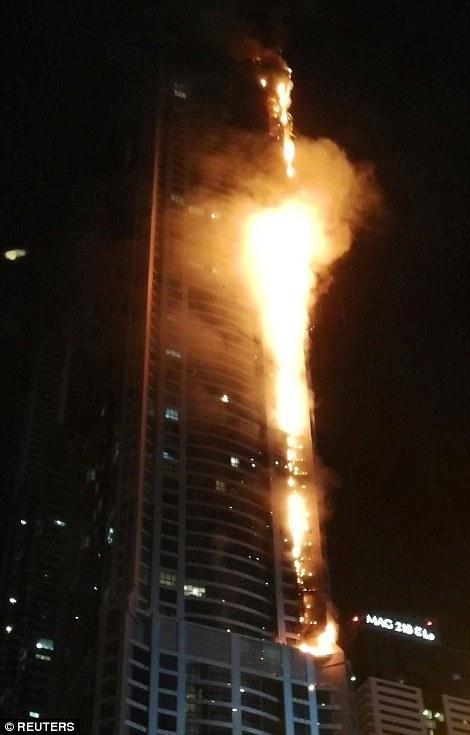 Пожар в жилом комплексе Marina Torch