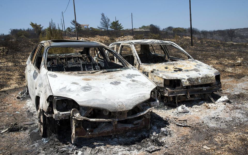На греческом острове Китира начался лесной пожар