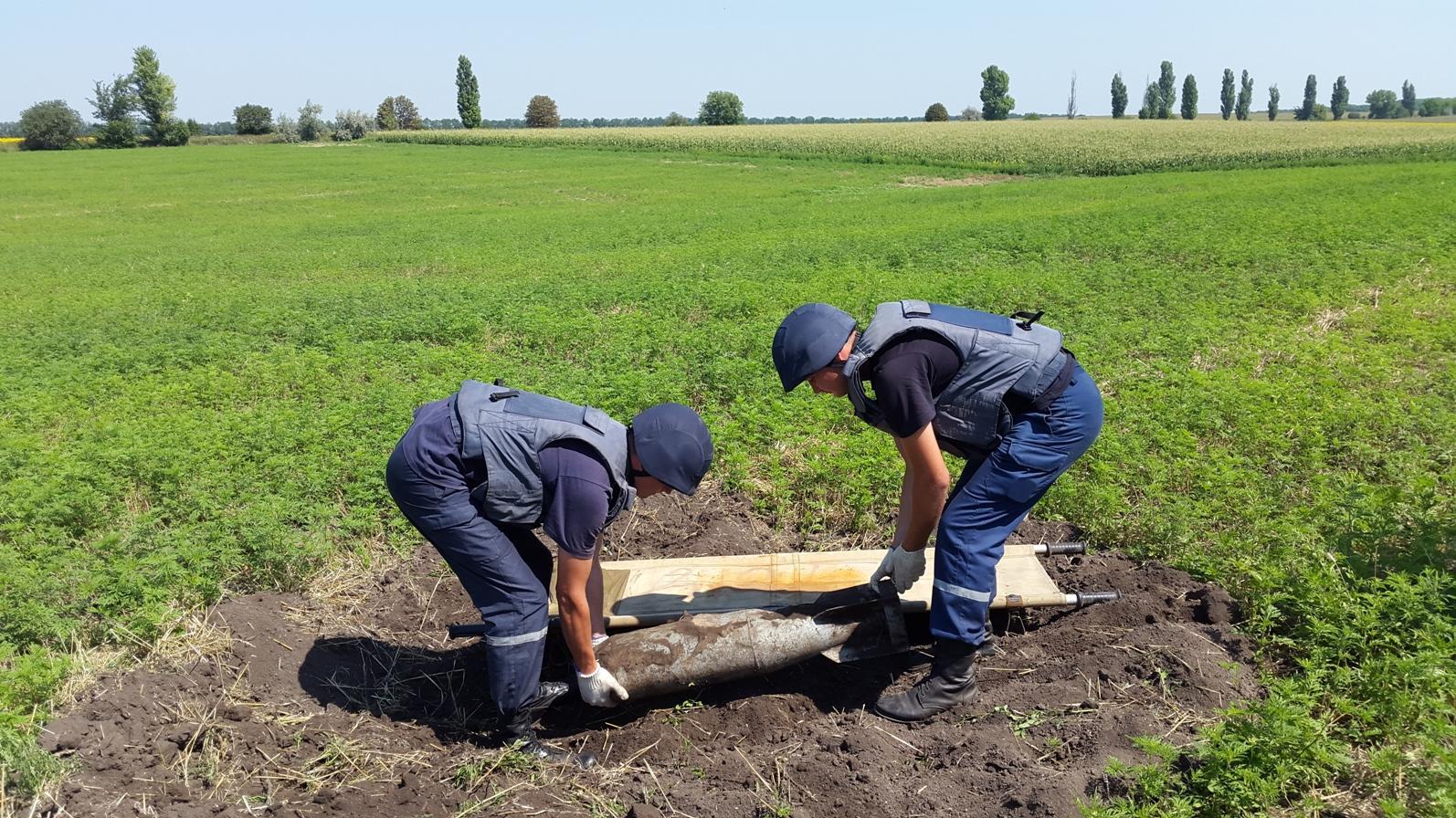 Обезвреживание боеприпасов сотрудниками ГСЧС