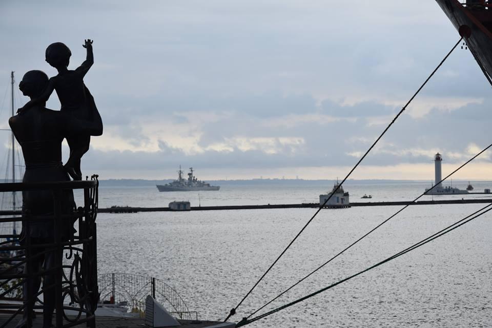 Эсминец Luigi Durand de la Penne в порту Одессы