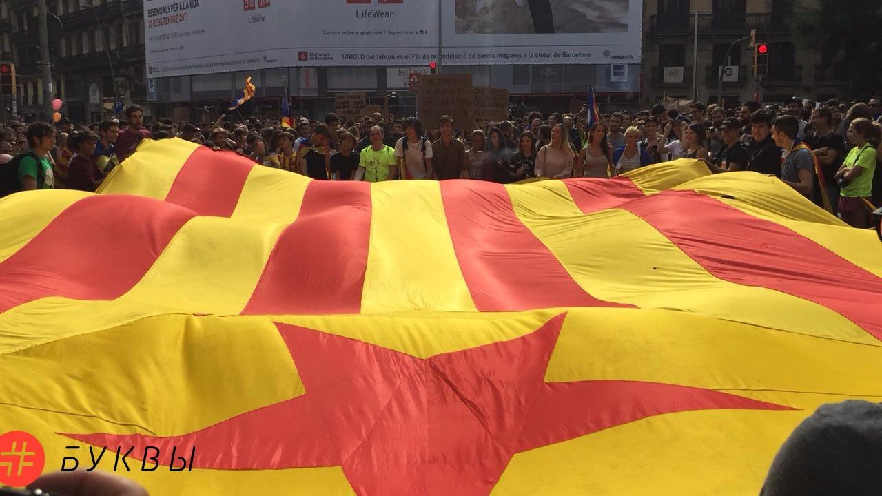 Студенты на забастовке в Барселоне_01