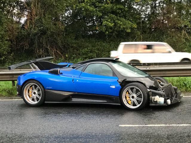 ДТП с участием спортивного автомобиля Pagani