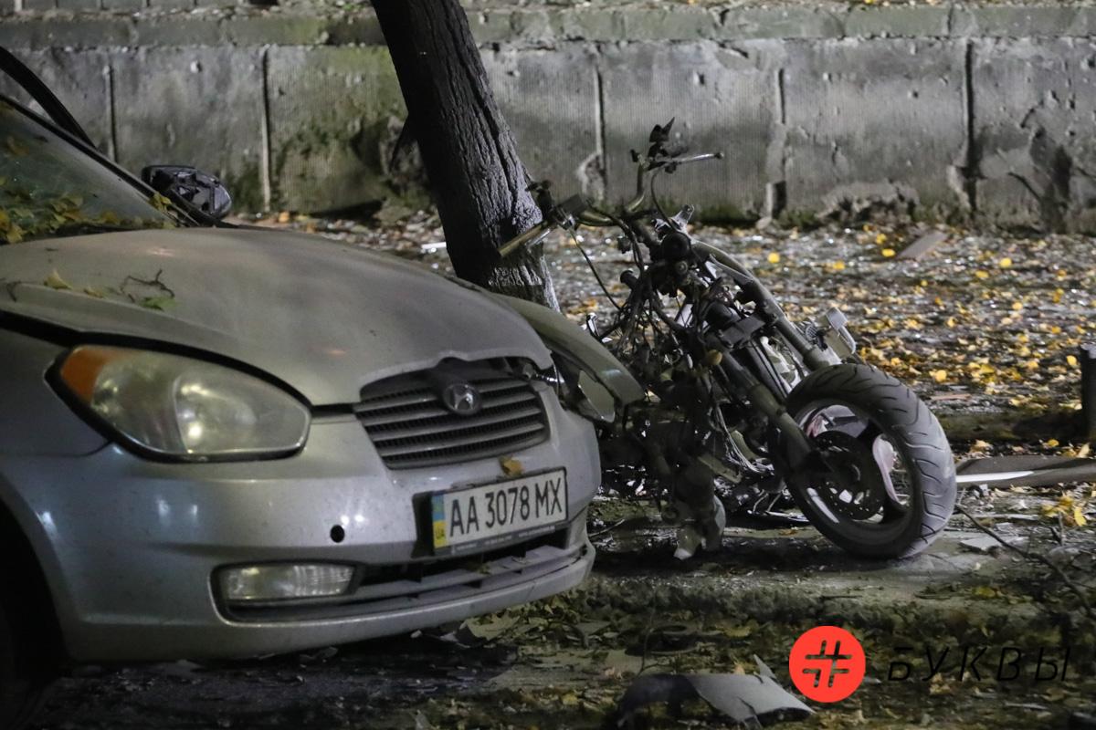 Снимки с места взрыва, в результате которого пострадал Мосийчук